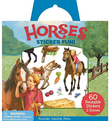 Peaceable Kingdom Sticker Fun! Horses Reusable Sticker Tote