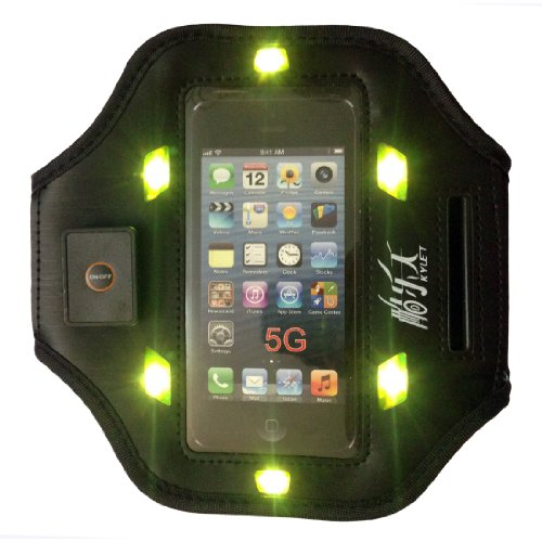 Black New Elastic Gym Running Sport Led Armband Case Cover Skin Iphone5S Armband Compatible With Apple Iphone5 5G Armband Iphone5C Armband