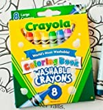 Crayola 52 3980 Crayola Coloring Book Large Washable Crayons