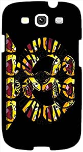 Timpax protective Armor Hard Bumper Back Case Cover. Multicolor printed on 3 Dimensional case with latest & finest graphic design art. Compatible with Samsung S3 - I9300 Galaxy S III Design No : TDZ-26143
