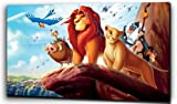 Plush Prints Disney Lion King Simba - Canvas Print - Dominant Colour: As Shown In Picture - Canvas Size: 12