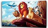 Plush Prints Disney Lion King Simba - Canvas Print - Dominant Colour: As Shown In Picture - Canvas Size: 12