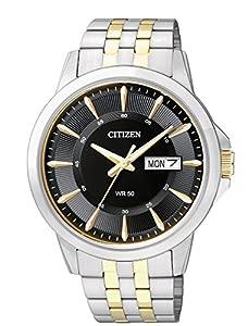 Citizen Quartz Mens Watch w/ Day-Date, BF2018-52E