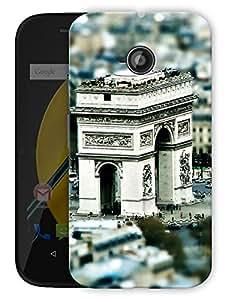 "Arc De Triomphe Paris Art Printed Designer Mobile Back Cover For ""Motorola Moto E"" By Humor Gang (3D, Matte Finish, Premium Quality, Protective Snap On Slim Hard Phone Case, Multi Color)"