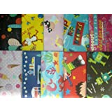 10 SHEETS OF CHILDREN'S WRAPPING PAPER