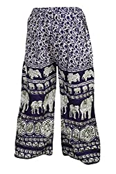 Indiatrendzs Women's Rayon Palazzo Animal Print Purple Yoga Pant Evening Wear Harem Pants Free Size