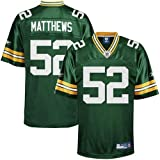 Reebok Clay Matthews Green Bay Packers Replica Jersey - Green (Large)
