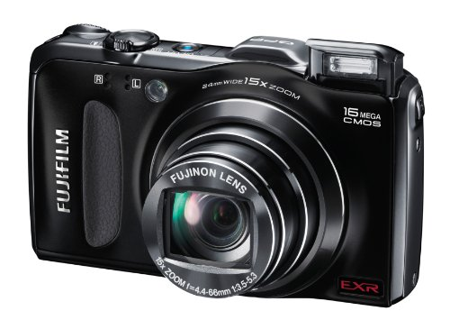 Fujifilm FinePix F600EXR Digital Camera - Black (16MP, 15 x Optical Zoom) 3 inch LCD Screen