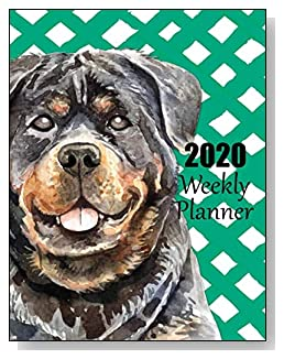 Rottweiler 2020 Dated Weekly Planner - A fun canine-themed planner to help any dog lover stay organized and keep track of activities on a daily, weekly, and monthly basis from January to December 2020.