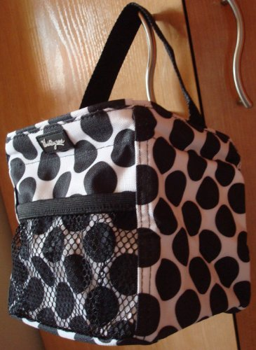 Thirty One Littles Carry-All Caddy Black Spotty Dot