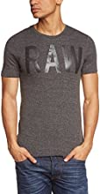(ジースター ロゥ)G-Star Raw(ジースター ロゥ) Tシャツ・ロゴTEE・半袖・丸首・メンズ 84051E-6276 390 black htr XL