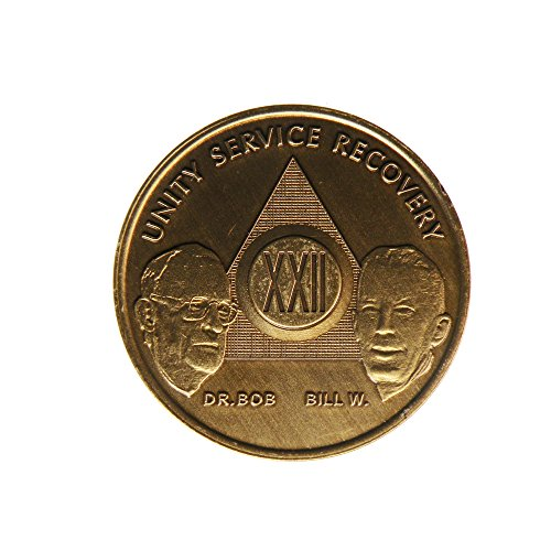 22 Year Bill & Bob Founders Edition Bronze AA (Alcoholics Anonymous) - Sober / Sobriety / Birthday - Anniversary Recovery Medallion / Coin / Chip by Generic