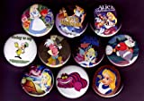 Set of 10 Alice in Wonderland Pins 1.25