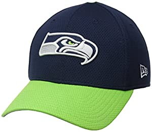 NFL Seattle Seahawks 2015 Team Color Training Camp 39Thirty Stretch Fit Cap, Medium/Large, Blue