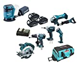 Makita 18V LXT Li Ion LXT600 6 Piece Kit And BBO180 BBO180Z BBO180Rfe Random Orbit Sander