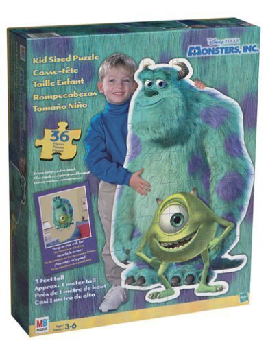 Disney Pixar Monsters Inc. Kid Sized Puzzle - 36 Pieces by Milton Bradley - 1