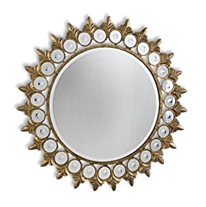 Large and unusual gold sunflower wall mirror - Unusual large wall mirrors ...
