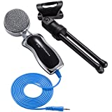 SoulBay 3.5mm Stereo Professional Condenser Sound Podcast Studio Mic Microphone With Desktop Support For PC Laptop...