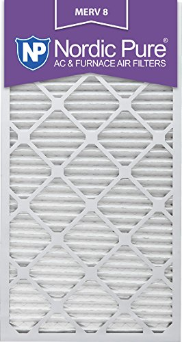 Nordic Pure 24x30x1M8-6 MERV 8 Pleated AC Furnace Air Filter , 24x30x1, Box of 6 (Hvac Filter 24 X 30 compare prices)