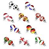Taffstyle® Ohrstecker Ohrringe Stecker Fußball Fanartikel WM & EM