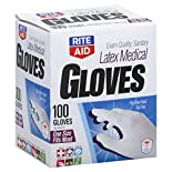 Rite Aid Gloves, Latex, Medical, 100 gloves