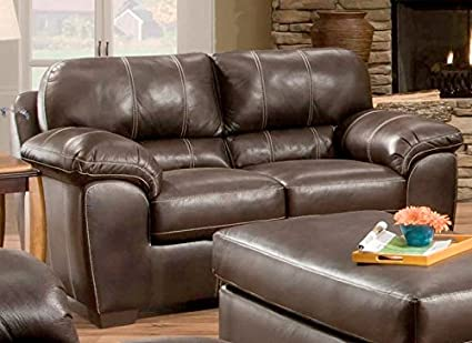 Chelsea Home Furniture Ace Loveseat, Blackjack Cocoa