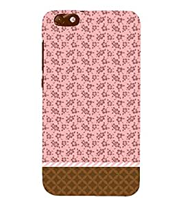 Flower Chevron Pink Cute Fashion 3D Hard Polycarbonate Designer Back Case Cover for Huawei Honor 4X :: Huawei Glory Play 4X