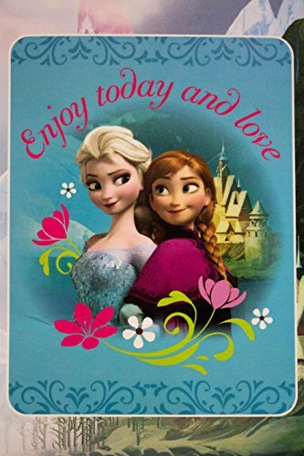 "Disney Frozen ""Enjoy Today and Love"" Royal Plush Rushel Throw 60""x80"" Super Soft & Cozy 100% Polyester - 1"