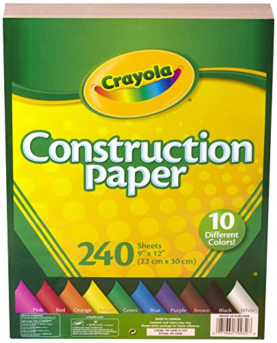 Crayola Construction Paper, 240 Count, 2-Pack