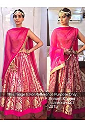 Designer PINK NET Bollywood Replica Lehenga Choli.