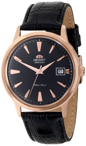 Orient Men's FER24001B0 Bambino Stainless Steel Watch with Black Band