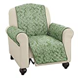 Paisley Reversible Furniture Protector, Sage, Recliner