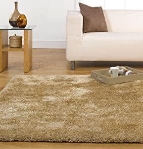 Large Soft Thick Luxurious Shaggy Rug in Natural 160 x 220 cm (5&'3  x 7&'3 ) Carpet       review and more information