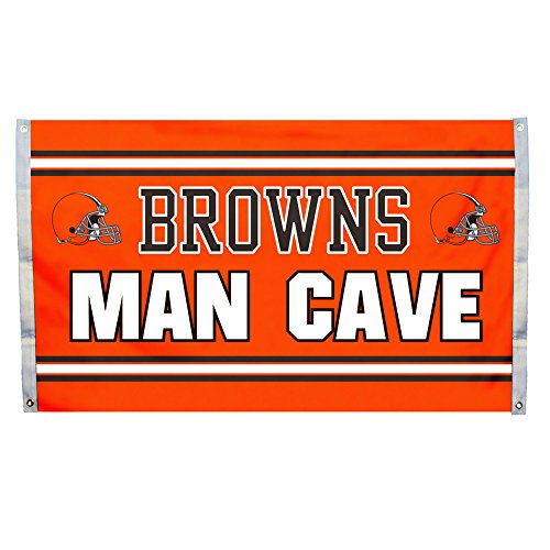Man Cave Accessories For Sale : Nfl cleveland browns man cave flag with grommets