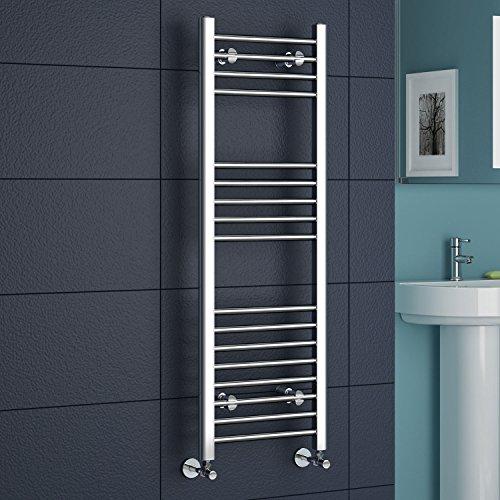 Straight Heated Towel Rail Chrome Bathroom Radiator
