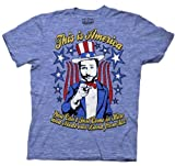 It's Always Sunny in Philadelphia This is America Heather Blue Adult T-shirt Tee