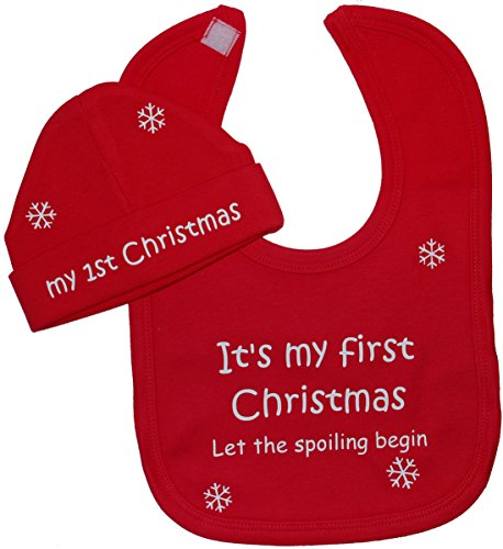 its-my-first-christmas-let-the-spoiling-begin-baby-feeding-bib-beanie-hat-cap-set-6-12-months-red