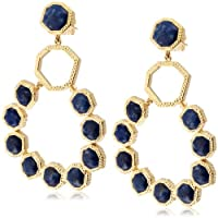 [アイシャーヤ] Isharya blue lapis goddess chandelier earring フックタイプピアス E1411-12-425