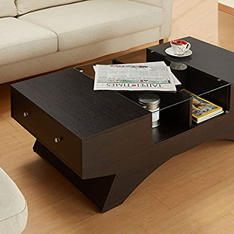 Gregerson Espresso Finish Coffee Table
