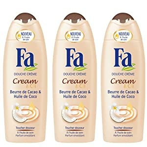 Fa - Gel Douche - Cream & Oil - Beurre de Cacao & Huile de Coco - Flacon 250 ml - Lot de 3