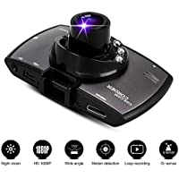 Novpeak Sqdeal Full HD 1080P 2.7 Inch Lcd Screen 170 Degrees Wide Angle View Car Camera Dvr Auto Vehicle Camera Digital Video Recorder Dash Cam Dashcam Dashboard Camcorders Video Registrator With G-Sensor / Ir Night Vision / Motion Detection / Cycle Recording / Built-In MIcrophone