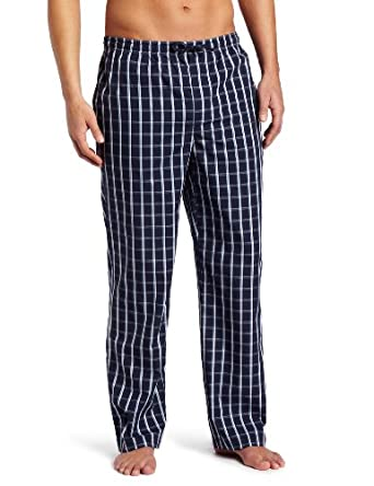 BOSS HUGO BOSS Men's Blue Stripe Woven Sleep Pant, Blue, Medium