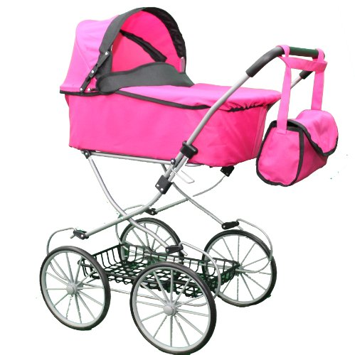 My Sweet Princess Deluxe Pram (32'' High) With Free Carriage Bag front-68112