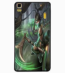 ColourCraft Warrior Girl Design Back Case Cover for LENOVO A7000
