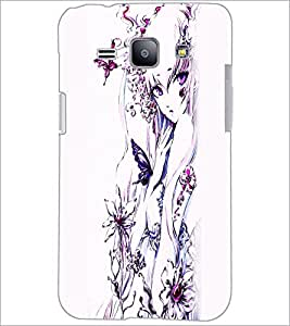 PrintDhaba Charming Girl D-2444 Back Case Cover for SAMSUNG GALAXY J1 (Multi-Coloured)