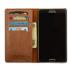 DCR PU Leather Flip Case Cover For Samsung Galaxy J-7