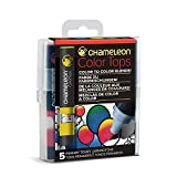 Chameleon Art Products Color Tops, Primary Tones 5-Pen Set (Color: Primary)