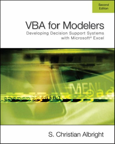 Vba for Modelers: Developing Decision Support Systems Using Microsoft Excel (Vba For Modelers compare prices)