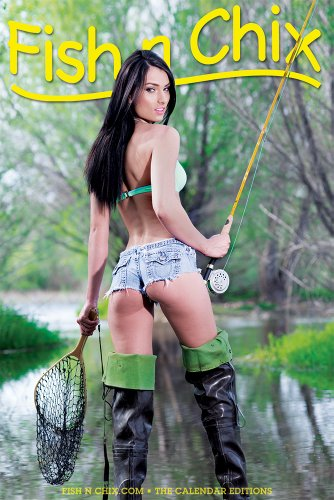 Fish N Chix Poster 2014 (Fly Fishing Girl) (Fish N Chix Calendar compare prices)