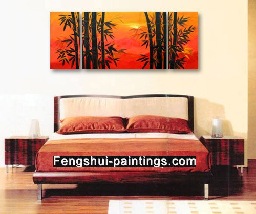 Asian Artwork Bamboo Painting Feng Shui Painting Chinese Oil Painting 0065
